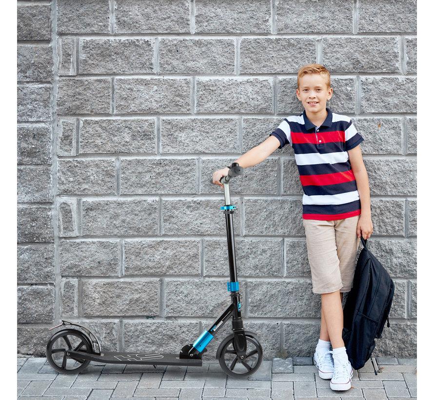 Hammer Street Scooter RX5 - Voor Kids - Inklapbaar - Zwart/Blauw - met LED verlichting - 93 cm