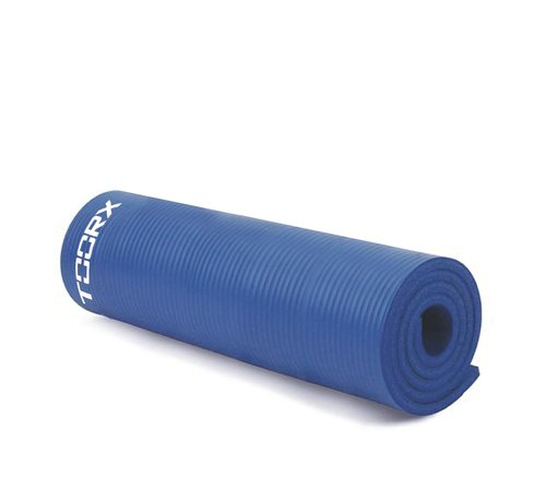 Toorx Fitness Fitnessmat PRO - Oefenmat - Yogamat - met ophangogen - 172 x 61 x 1,5 cm