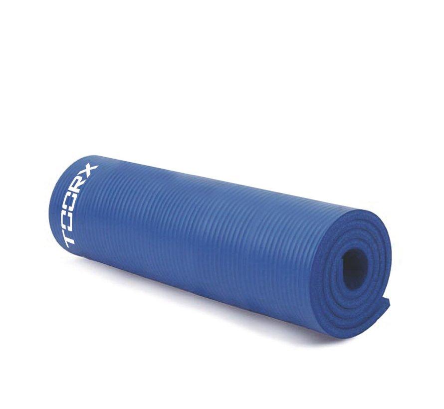 Toorx Fitnessmat PRO - Oefenmat - Yogamat - met ophangogen - 172 x 61 x 1,5 cm