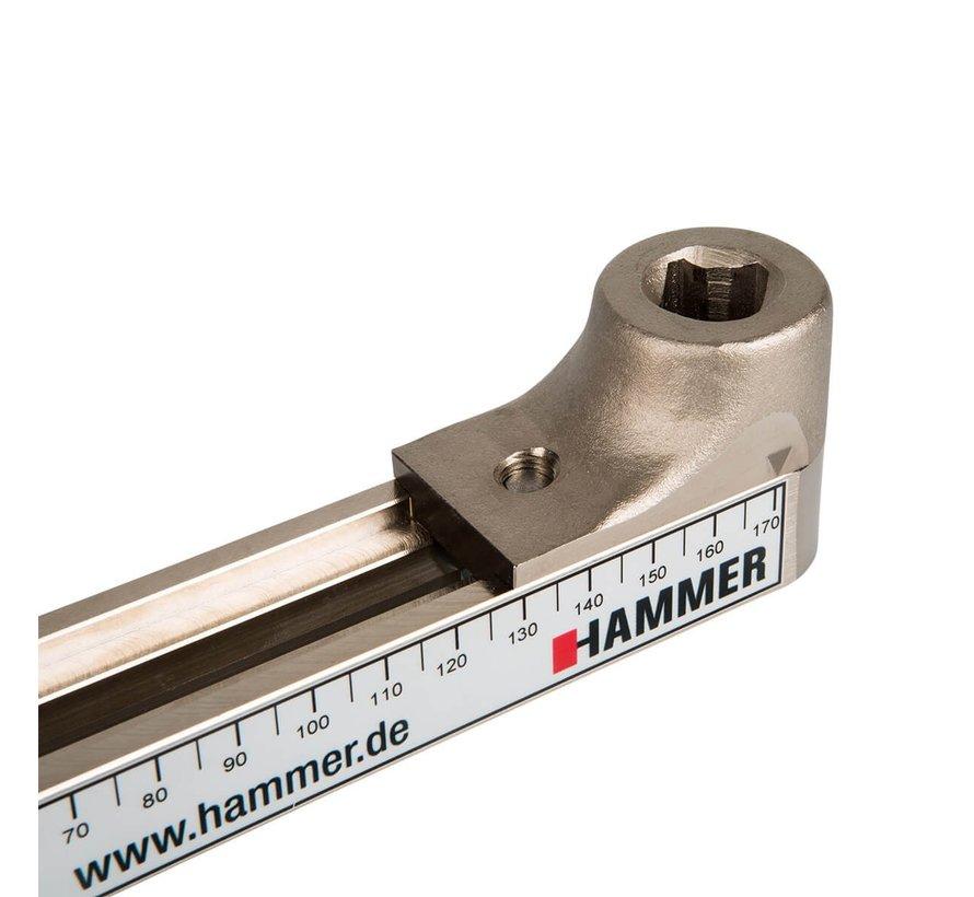 Hammer verstelbare set cranks voor hometrainers - verstelbaar van 30-170 mm