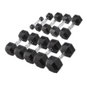 Body-Solid Body-Solid Hexa Rubber Dumbbell Set 1 -10 kg