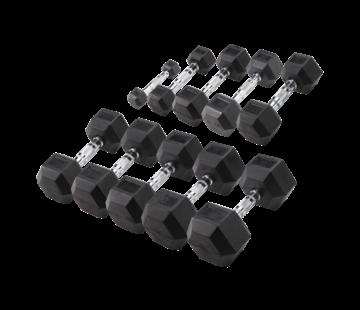 Body-Solid Hexa Rubber Dumbbell Set 1 -10 kg