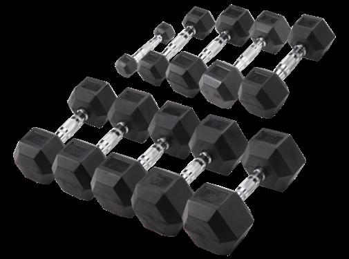 Body-Solid Body-Solid Hexa Rubber Dumbbell Set 1 -10 kg