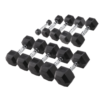 Body-Solid Body-Solid Hexa Rubber Dumbbell Set 1 -10 kg + opbergrek