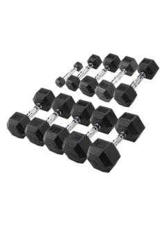 Body-Solid Body-Solid Hexa Rubber Dumbbell Set 2 -25 kg