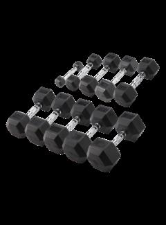 Body-Solid Hexa Rubber Dumbbell Set 27.5 - 35 kg