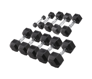 Body-Solid Body-Solid Hexa Rubber Dumbbell Set 27.5 - 35 kg