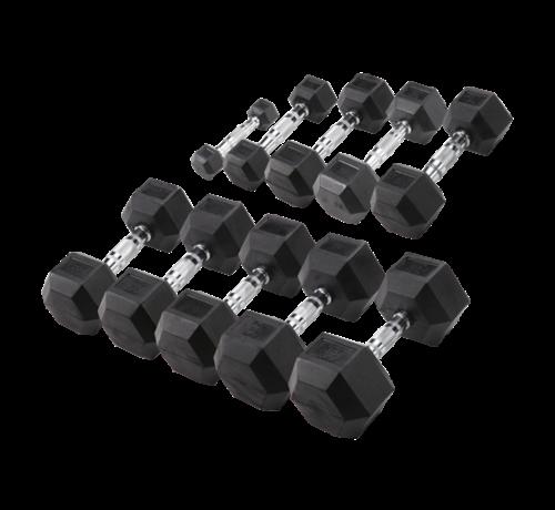 Body-Solid Body-Solid Hexa Rubber Dumbbell Set 27.5 - 35 kg (4 pair)
