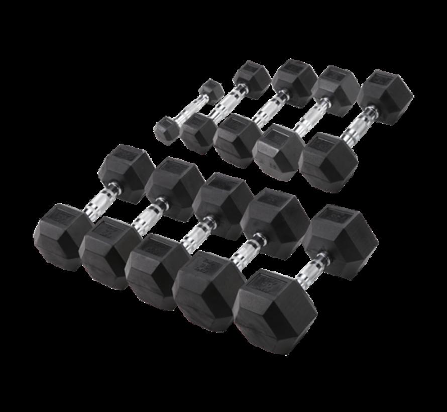 Body-Solid Hexa Rubber Dumbbell Set 27.5 - 35 kg (4 pair)
