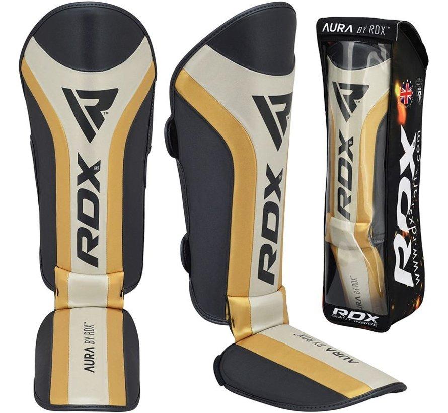 RDX T17 Aura-scheenbeenbeschermers Zwart/goud