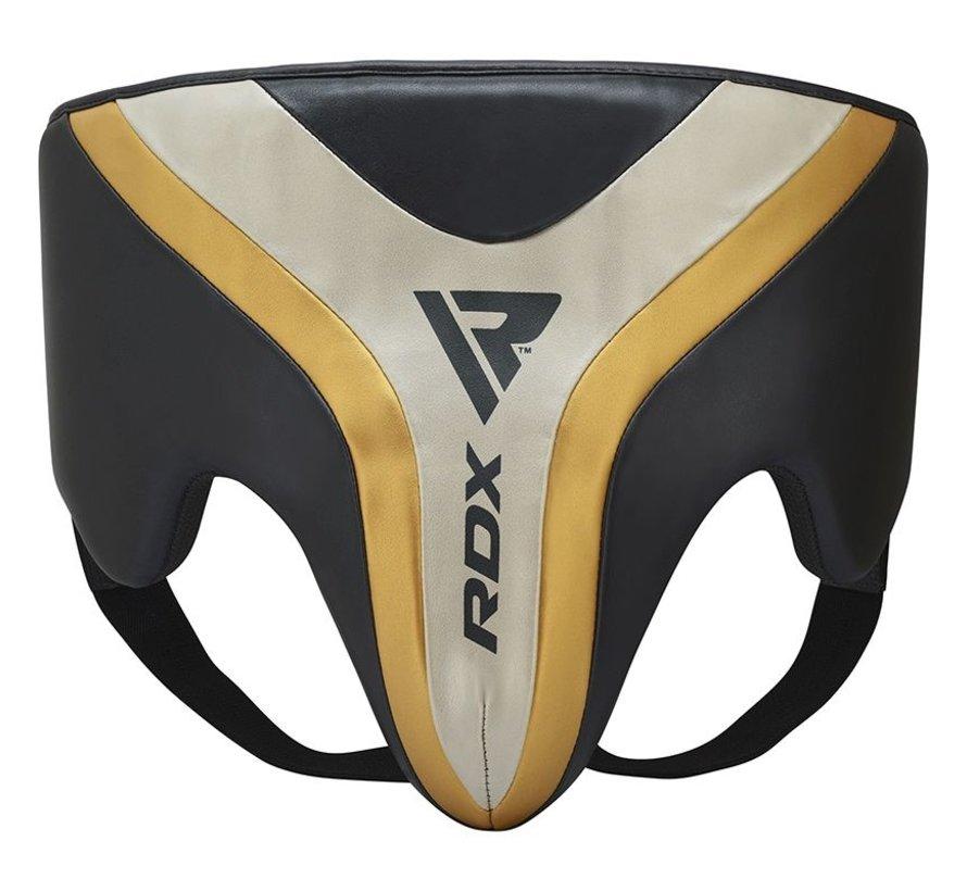 RDX T17 Aura Kruisbeschermer | Groin Guard - Zwart/goud