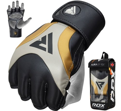 RDX Sports RDX Sports T17 Aura Grappling Gloves | MMA - Zwart/goud