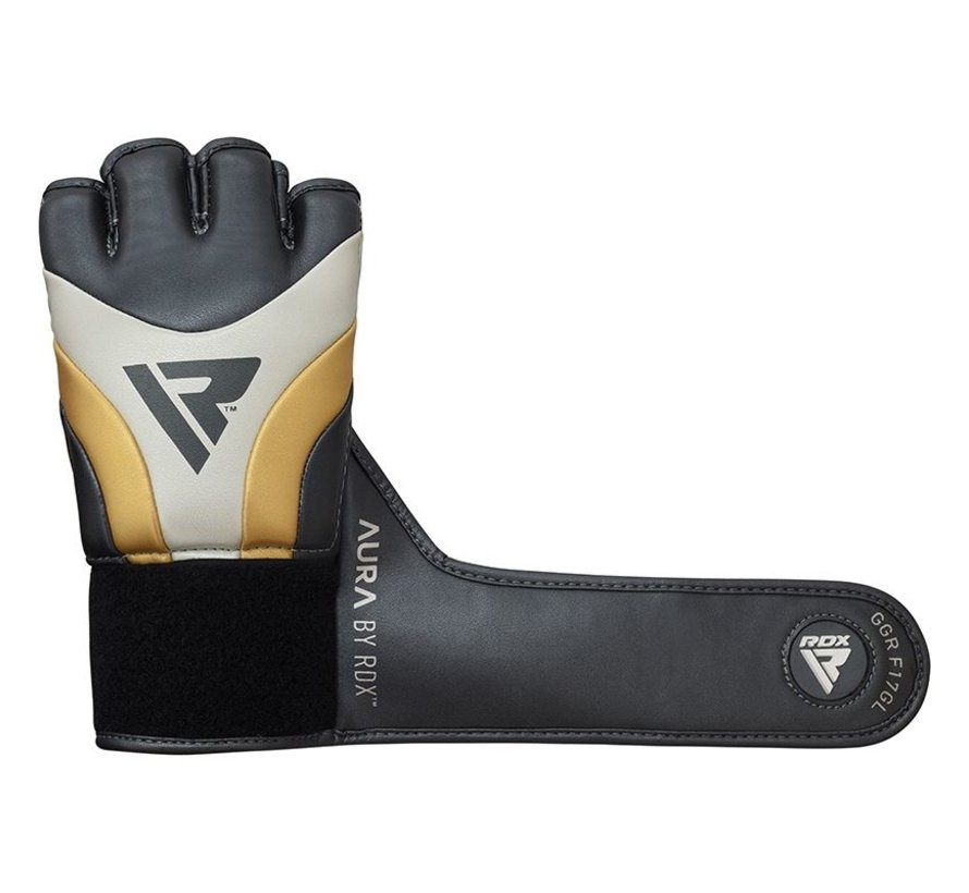 RDX Sports T17 Aura Grappling Gloves | MMA - Zwart/goud