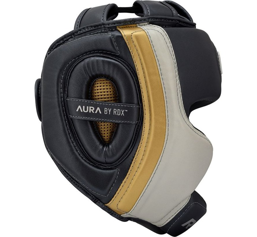 RDX Sports T17 Aura Hoofdbeschermer | Head Guard - Zwart/goud