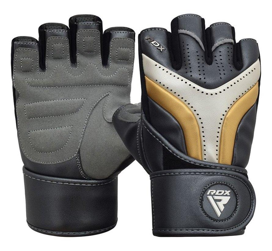 RDX Sports T17 Aura Gym Handschoenen - Zwart/goud