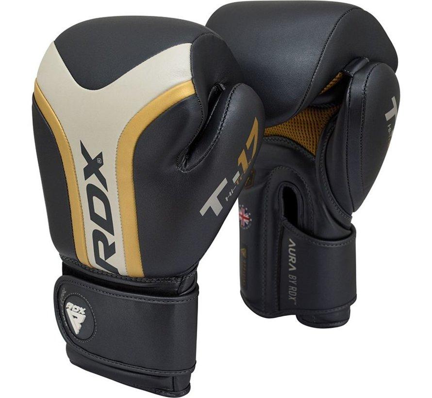 RDX Sports T17 Aura Bokshandschoenen - Zwart/goud