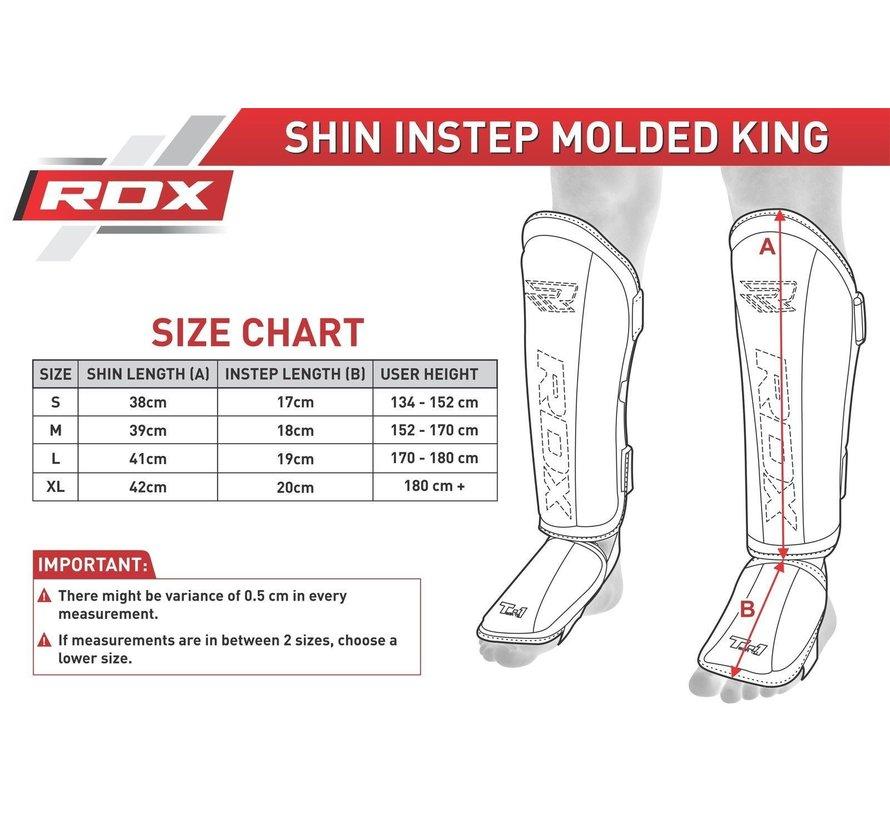 RDX Shin Instep Molded KING - Zwart