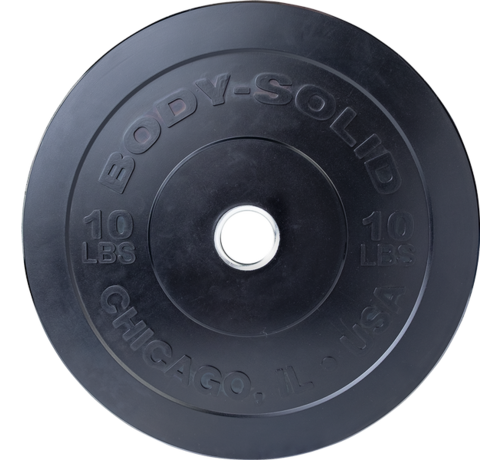 Body-Solid Body-Solid Chicago Extreme Zwarte Olympische Bumper Plates OBPXK