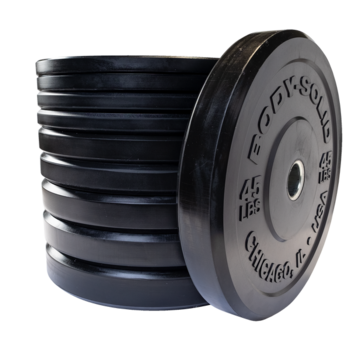 Body-Solid Body-Solid Chicago Extreme Zwarte Olympische Bumper Plates OBPXK