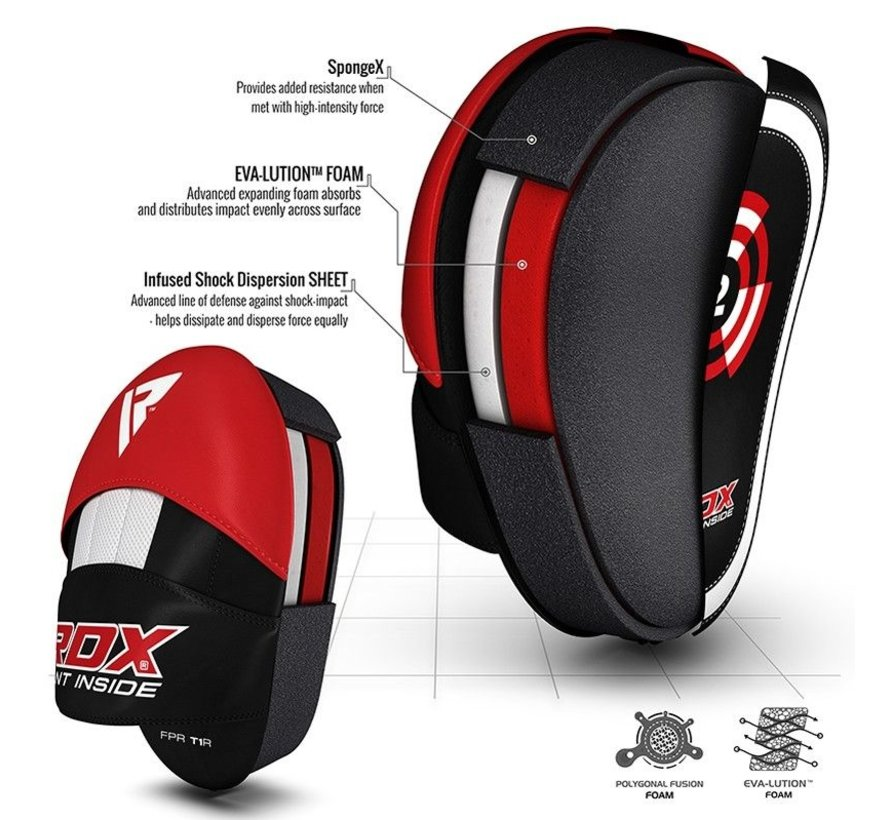RDX Focus Pad Rex Curve T1 - Rood/Zwart