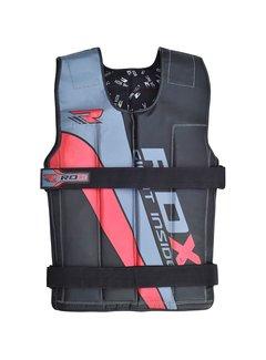 RDX Sports RDX R1 Gewichtsvest - Zwart / Rood - Verstelbaar van 10 tot 18 kg