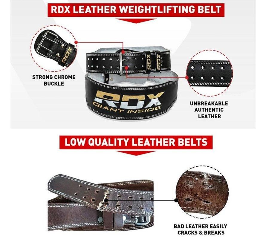 RDX Gym Lederen Gewichtenhef Riem