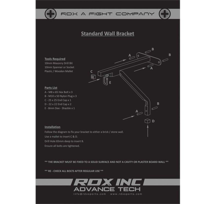 RDX Sports X1 Muurbeugel voor bokszak - 60 kg