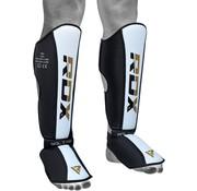 RDX Sports RDX T4 Leren Scheenbeschermers - Incl. Voetbeschermer