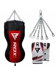 RDX Sports Body Bokszak + Handschoenen - Incl. Ketting En Vloerstrap