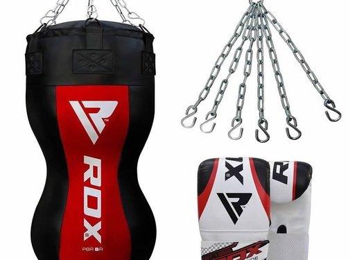 RDX Sports RDX Body Bokszak + Handschoenen - Incl. Ketting En Vloerstrap