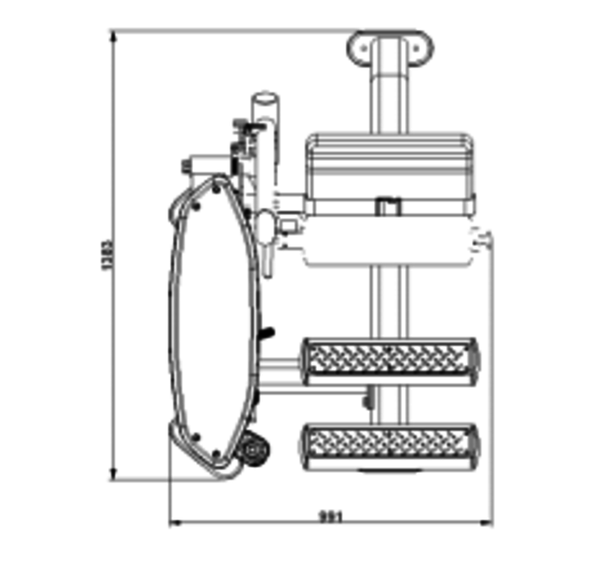 Steelflex Mega Power Back Machine MBK-1600/2