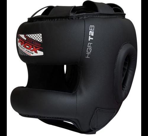 RDX Sports RDX T2 Gel Padded Nose Protection Hoofdbeschermer Zwart