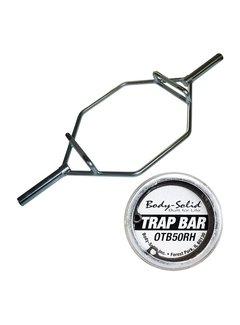 Body-Solid Olympische Shrug Bar met hendels