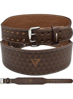 RDX Sports ARLO 4 Inch Medium Tan Leather Weightlifting Belt