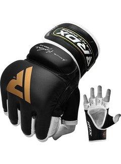 RDX Sports T2 Leather MMA Handschoenen - Goud / Zwart - Leer