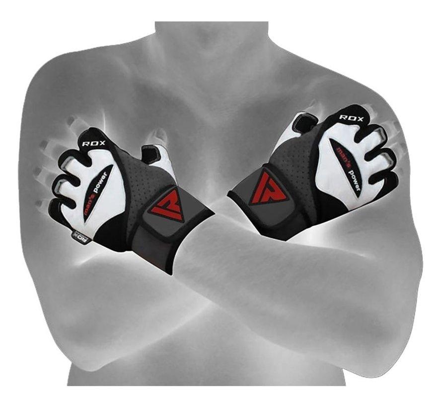 RDX L1 Leren Bodybuilding Fitnesshandschoenen