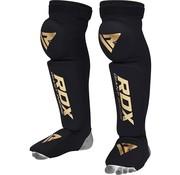 RDX Sports RDX S3 Black Shin Guard - Scheenbeschermer - met Knee pads