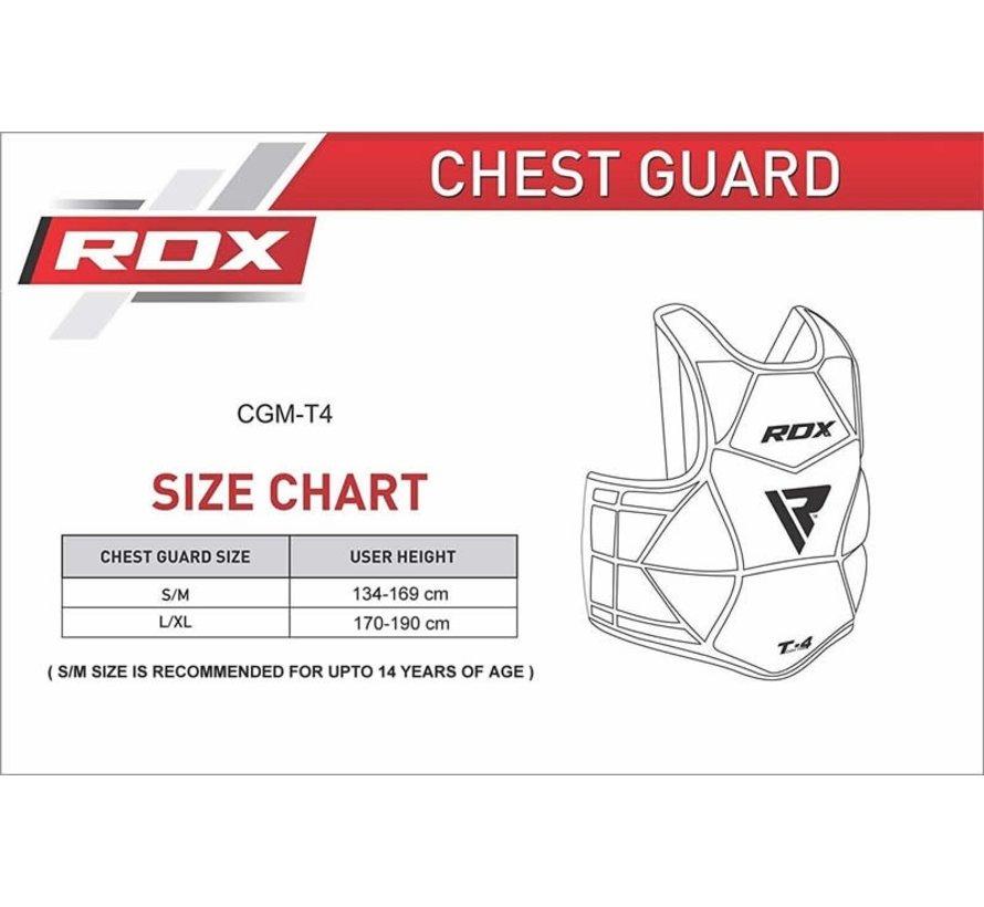 RDX T4 CE Certified Body Protector - Voor borst, ribbenkast en buik