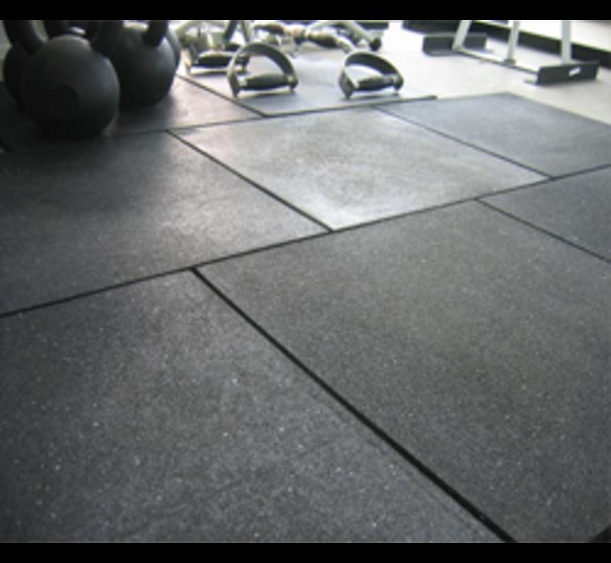 Fitness Vloer Tegel - Rubberen Tegel - Vloertegel - 100 x 100 cm en 20 mm dik