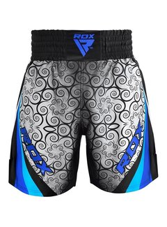 RDX Sports BSS Boxing Training Shorts Satin R2 - Blauw
