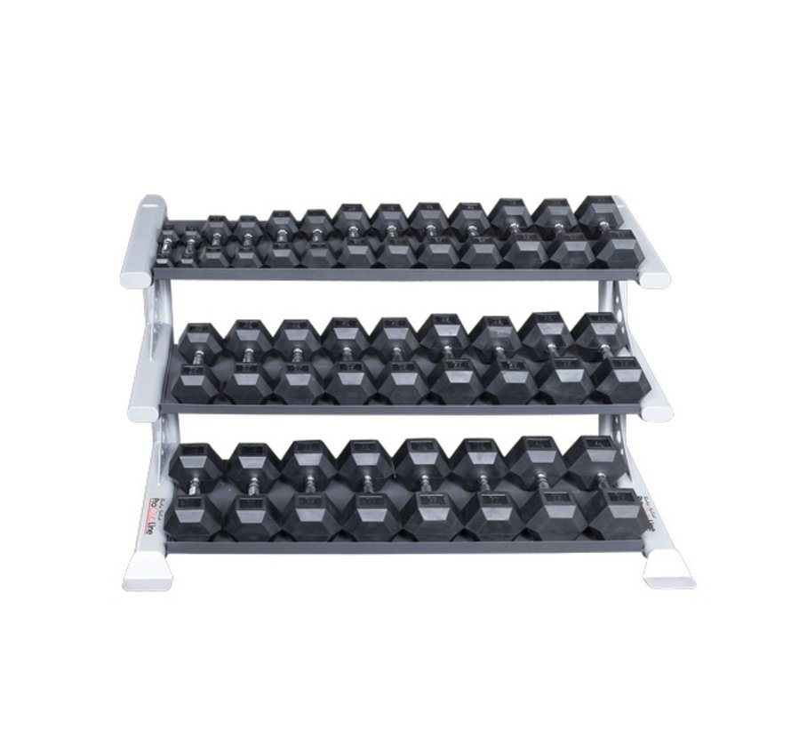 ProClubLine SDKR1000DB Commercial Dumbbell Rack - drielaags