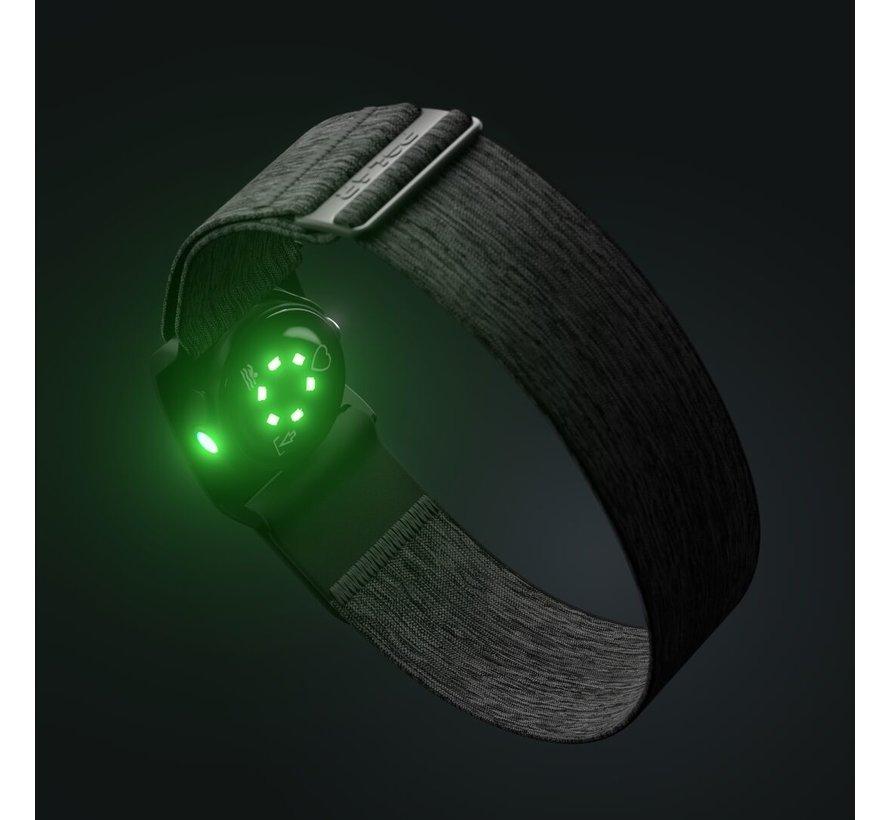 Polar Verity Sense - Grijs - Maat: M - XXL - Optische Hartslagsensor met Bluetooth en ANT+