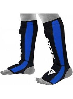 RDX Sports T6 Scheenbeschermers - Zwart/Blauw