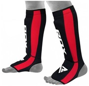 RDX Sports RDX Sports T6 Scheenbeschermers - Zwart/Rood