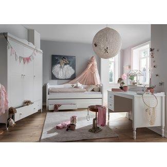 Lilli Furniture Emma 3-delige set: bedbank slaaplade - 3deurs kast - bureau