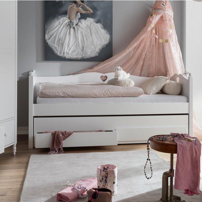 Lilli Furniture Bedbank Emma met logeerlade
