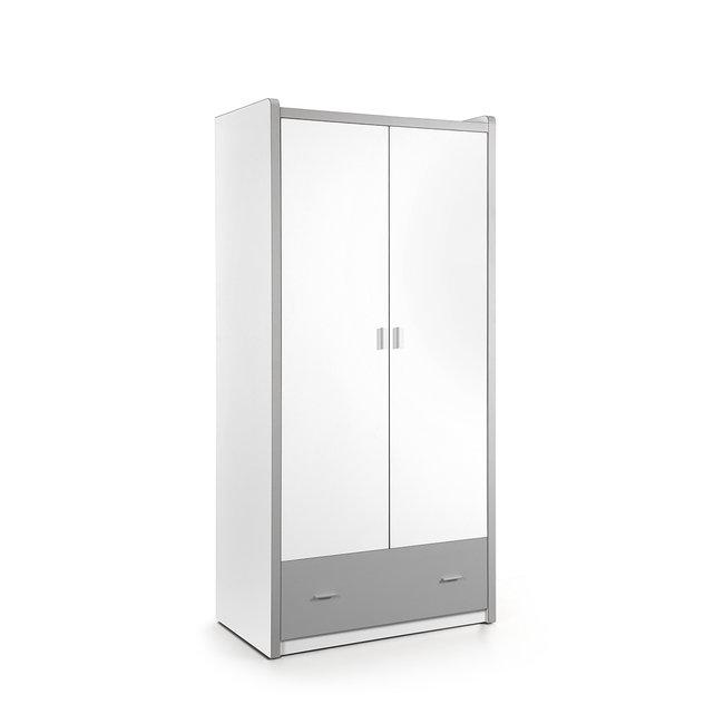 Vipack 2-deurs kledingkast Bonny Zilvergrijs