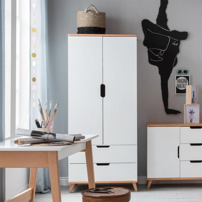 Infanskids 2-deurs kledingkast Color - Wit