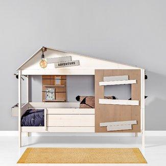 LIFETIME kidsrooms Hutbed The Hideout Whitewash - 90x200