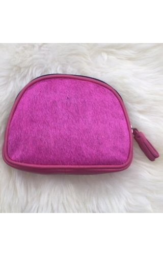 Burkely Furry pouch pink